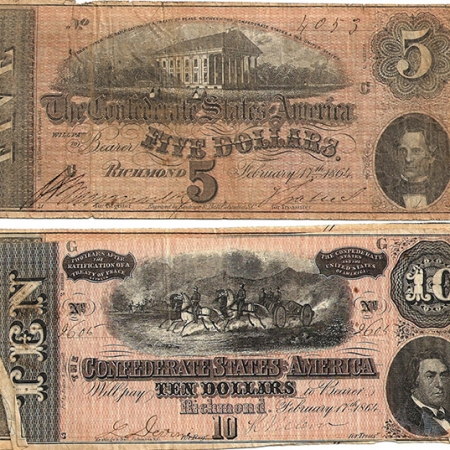 Confederate Paper Currency 1864