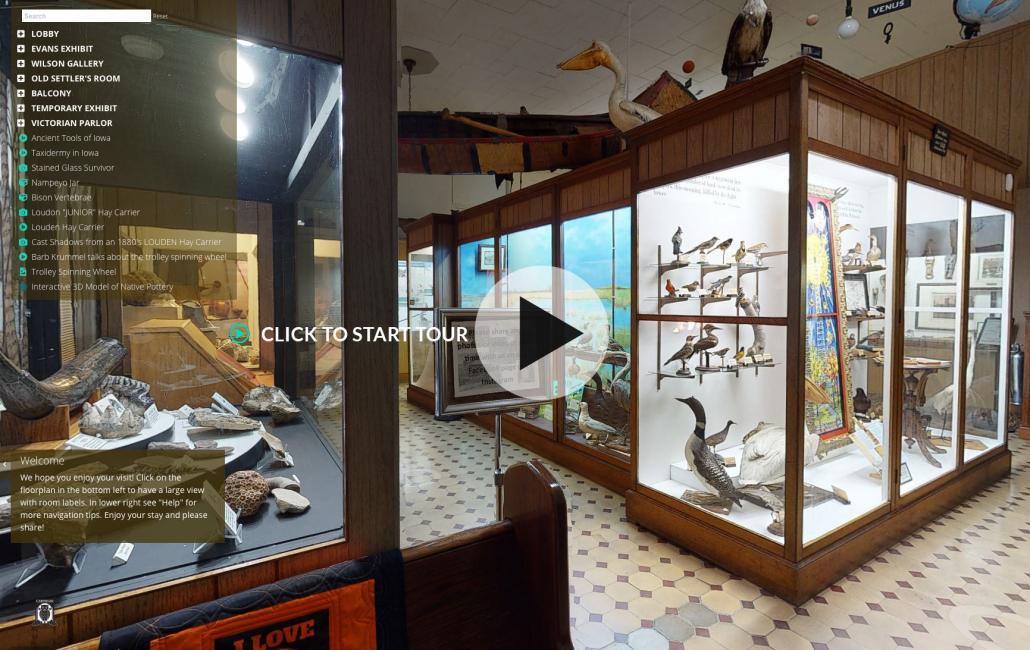 Fairfield iowa carnegie museum virtual tour link